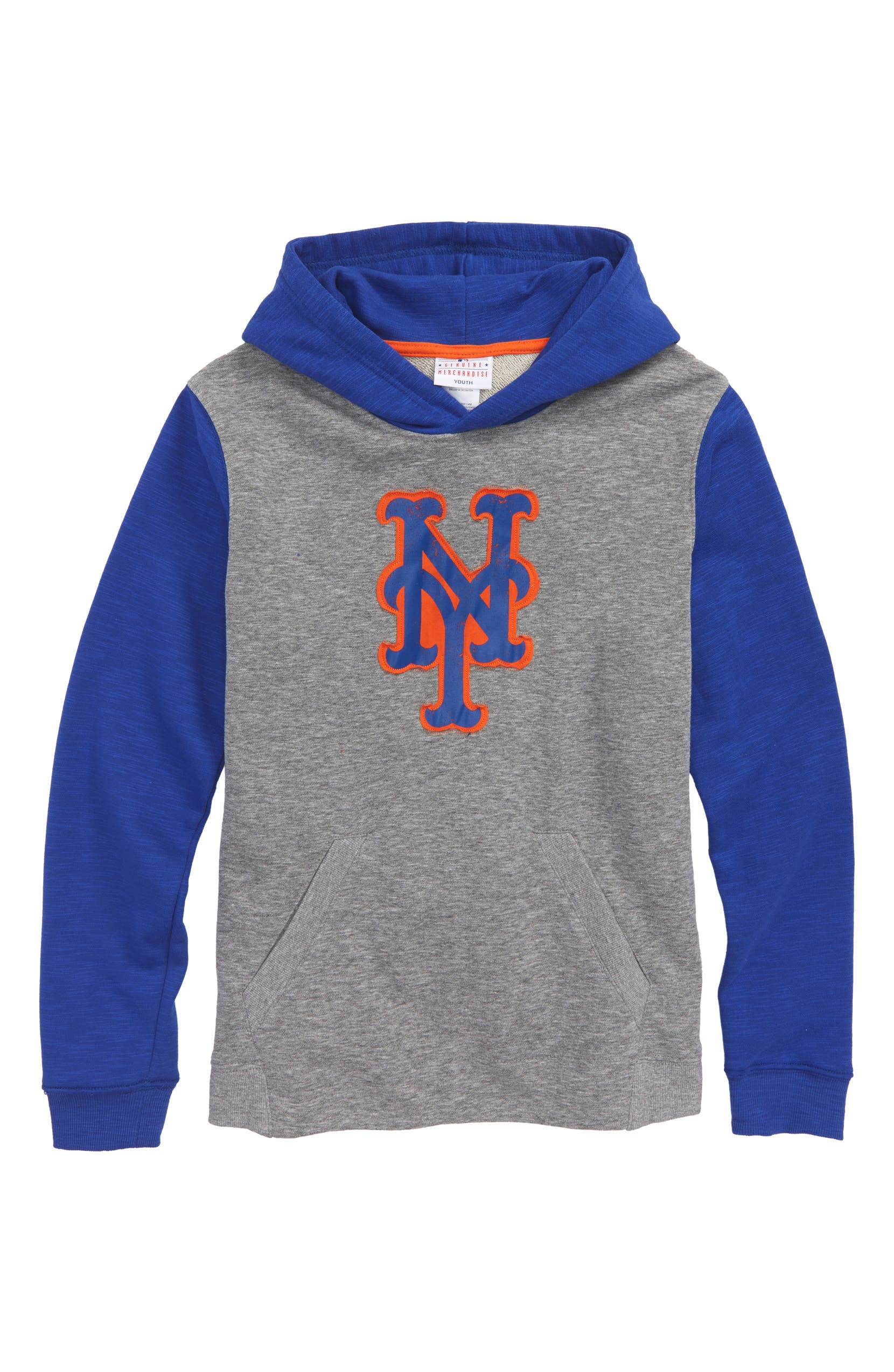 best loved 684a6 e4323 Majestic MLB New Beginnings - New York Mets Pullover Hoodie ...