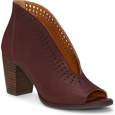 Lucky Brand Joal Bootie- Red