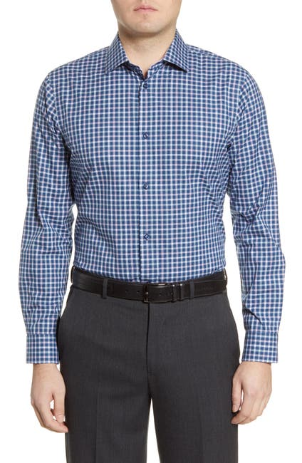 Image of NORDSTROM MEN'S SHOP Extra Trim Fit Non-Iron Check Dress Shirt