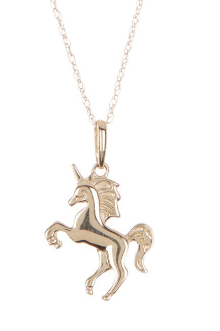 Image of Candela 14K Yellow Gold Unicorn Pendant Necklace