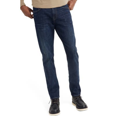 Madewell Straight Everyday Flex Jeans: Thermolite Edition, Blue