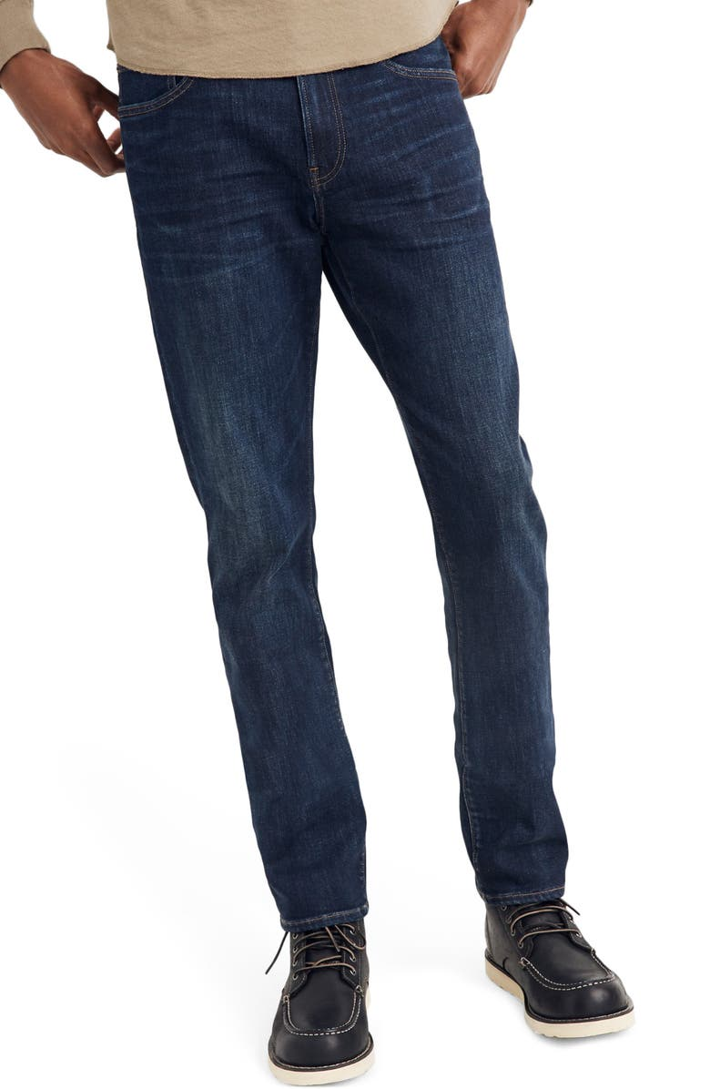 MADEWELL Straight Everyday Flex Jeans: THERMOLITE<sup>®</sup> Edition, Main, color, UTICA
