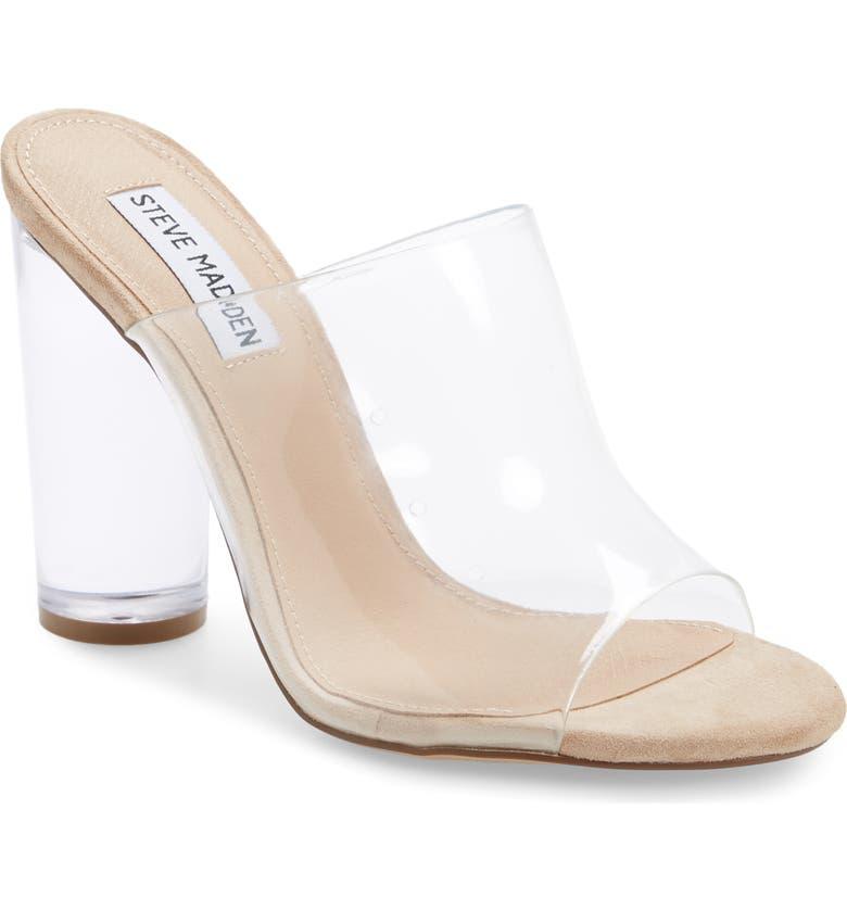 STEVE MADDEN Classify Clear Slide Sandal, Main, color, CLEAR