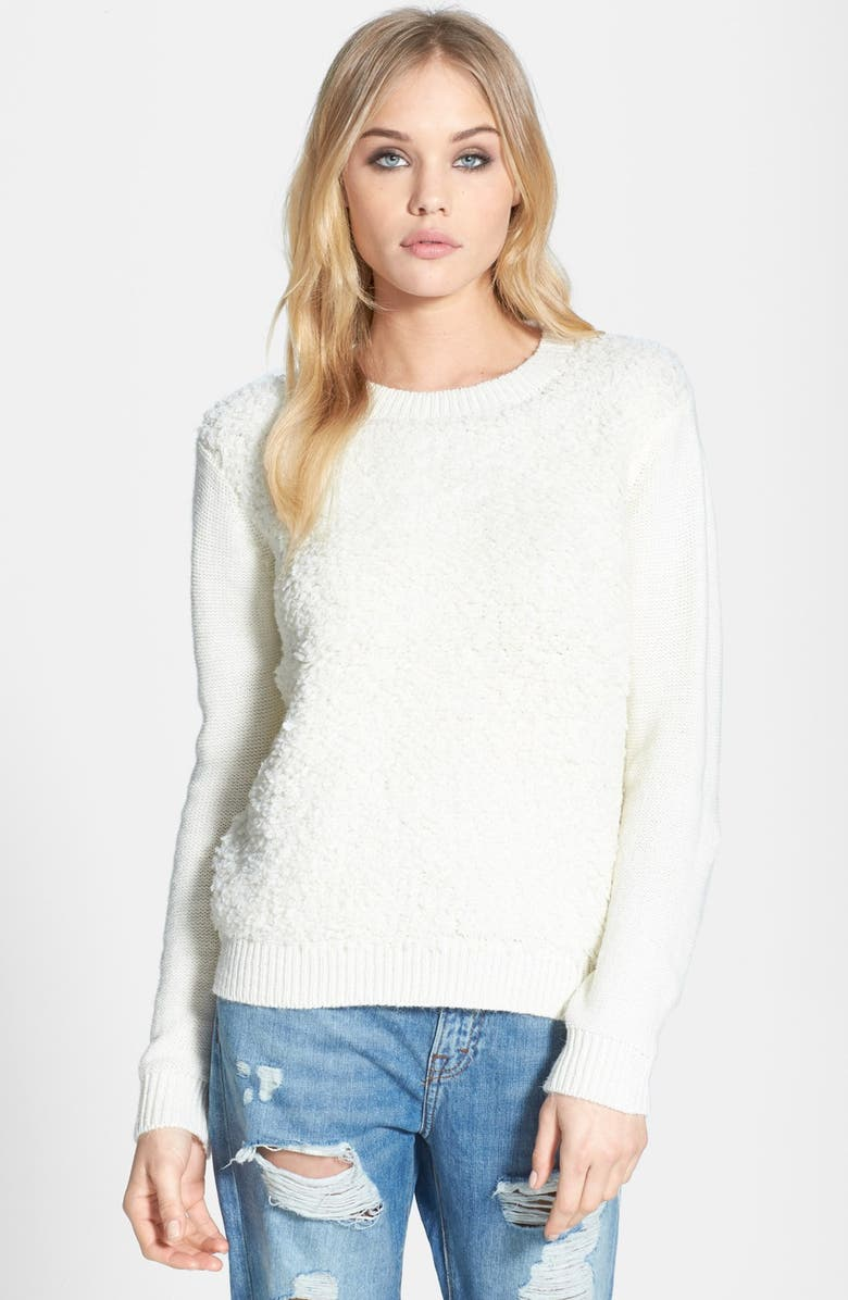 TOPSHOP Loop Stitch Sweater, Main, color, 100