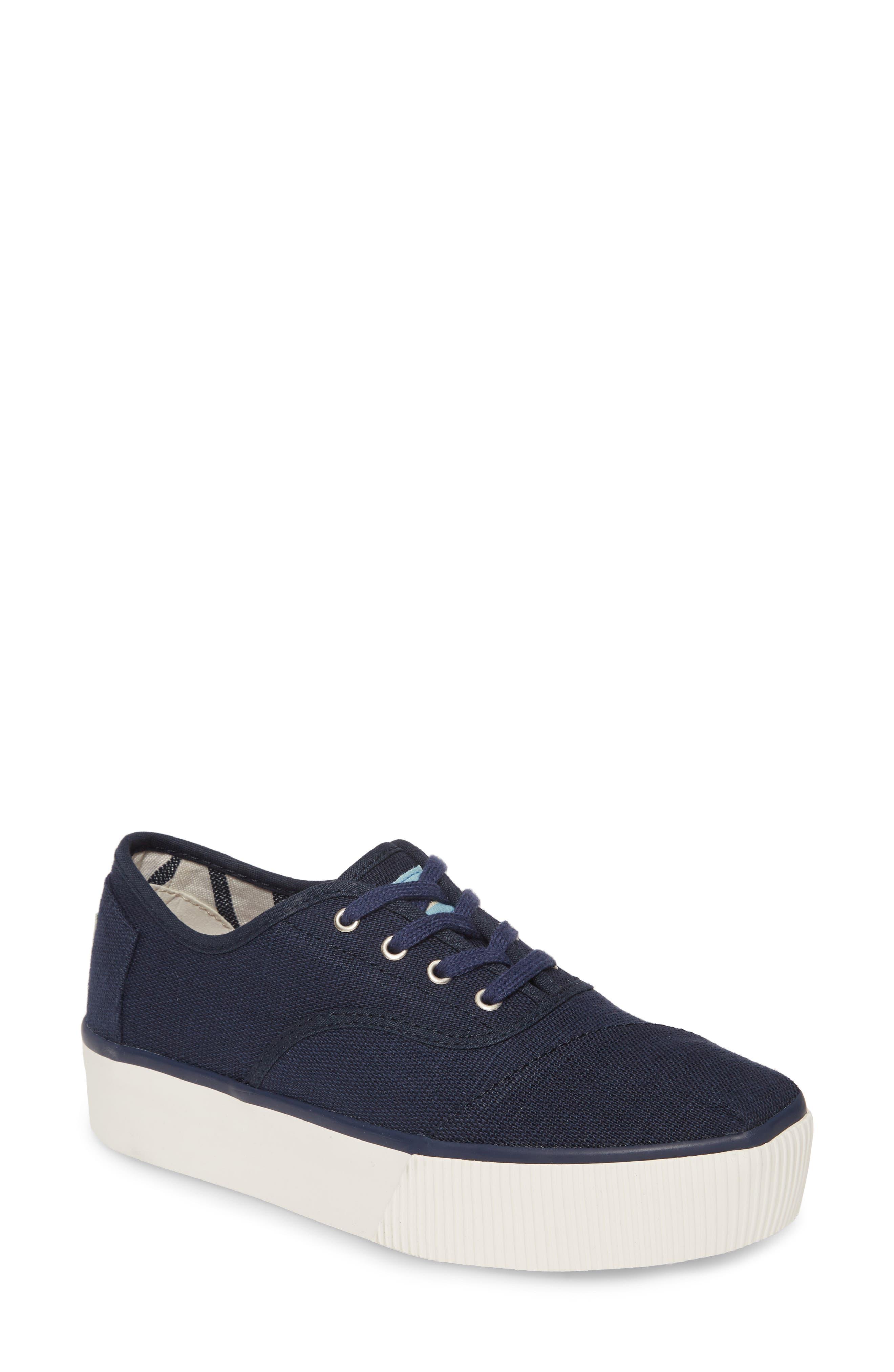 Toms Cordones Boardwalk Sneaker, Blue