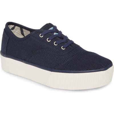 Toms Cordones Boardwalk Sneaker, Blue