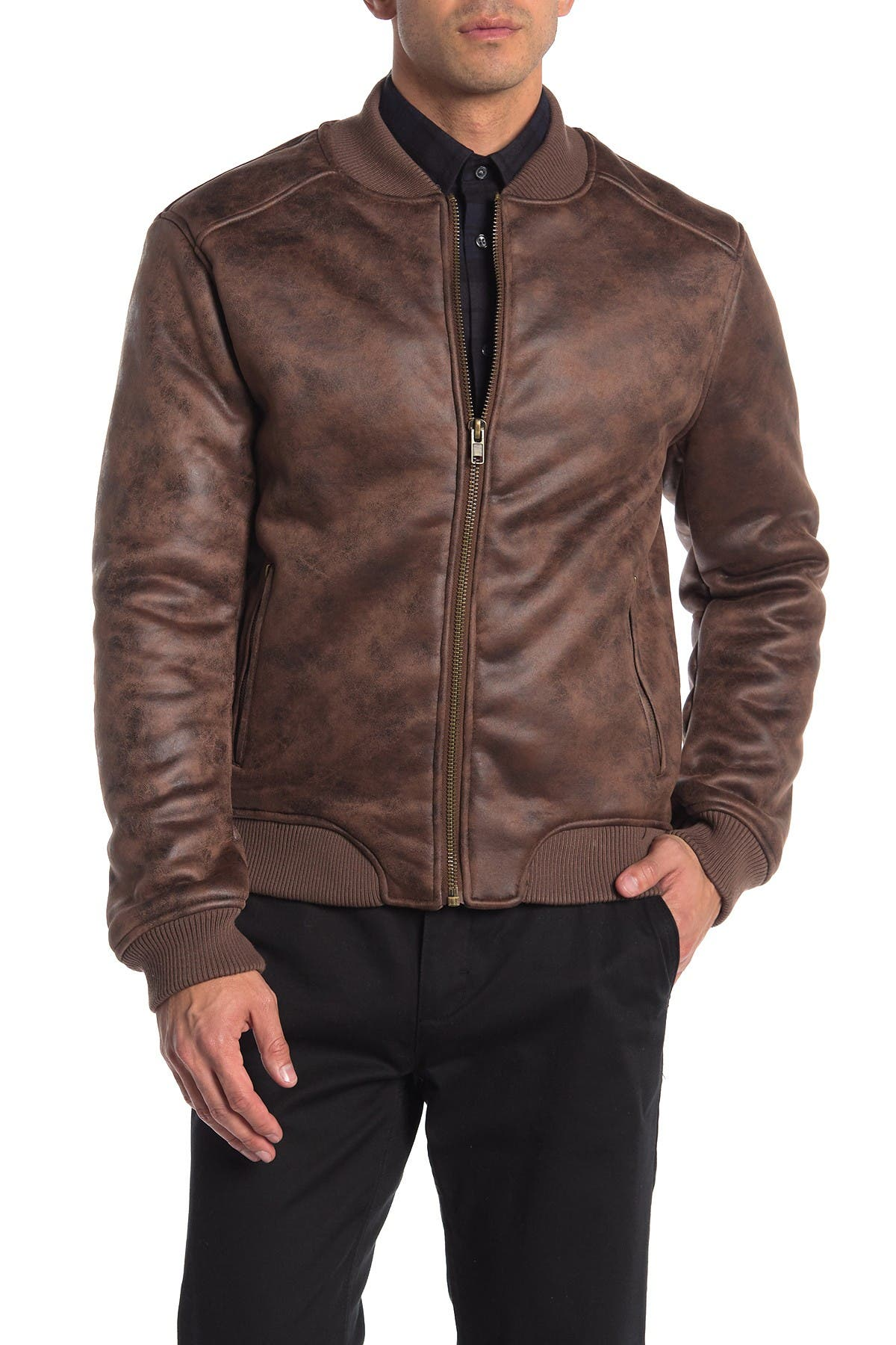 Image of Slate & Stone Faux Shearling Lined Bomber Jacket