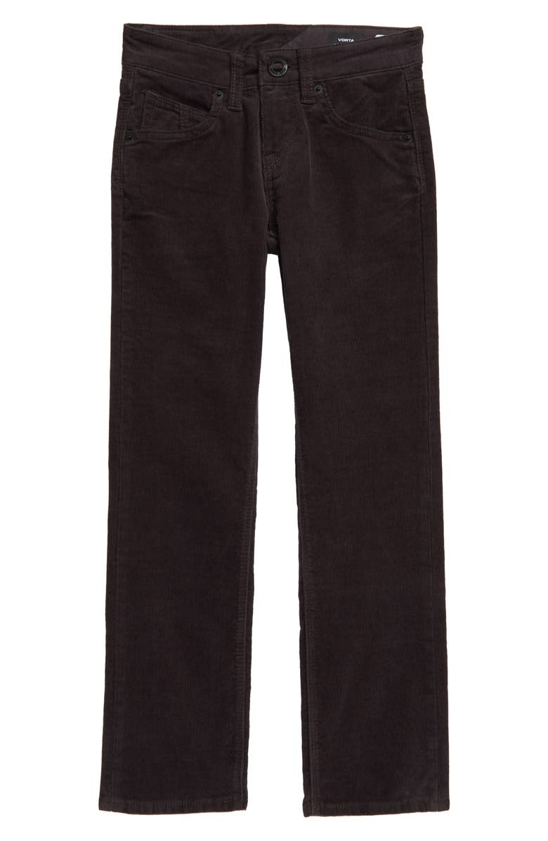 VOLCOM Vorta Corduroy Pants, Main, color, ASPHALT BLACK