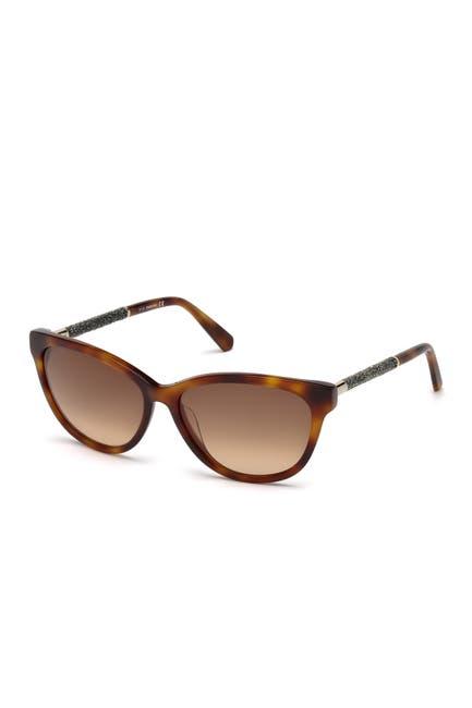Image of Swarovski Cat Eye 57mm Sunglasses