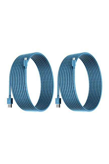 Image of POSH TECH Sky Blue 6 Ft Apple Certified Charge N Sync Lightning Cables - Pack of 2