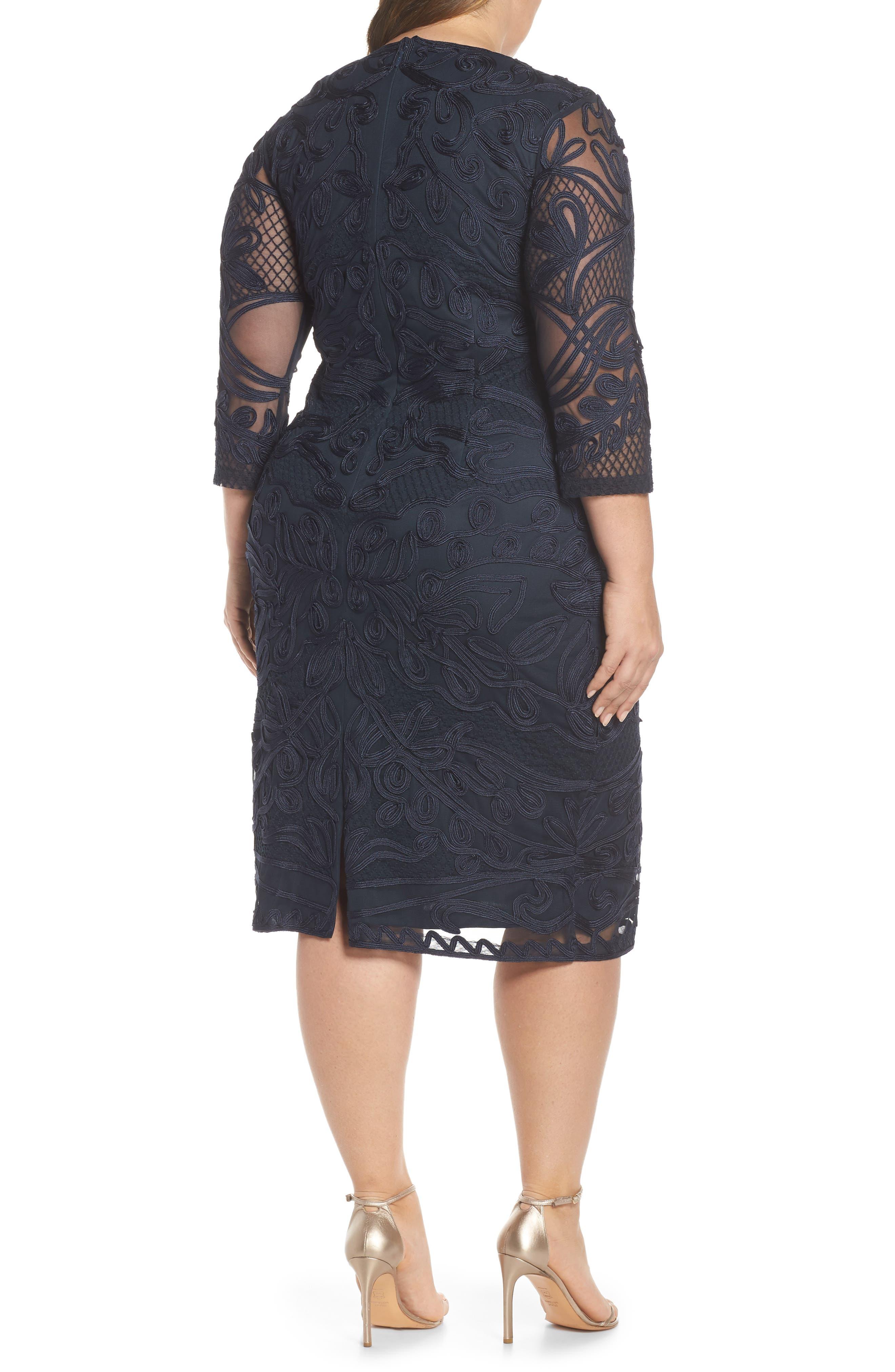 ,                             Soutache Sheath Dress,                             Alternate thumbnail 8, color,                             410