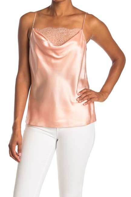 Image of PAIGE Giovanna Satin Lace Trim Camisole