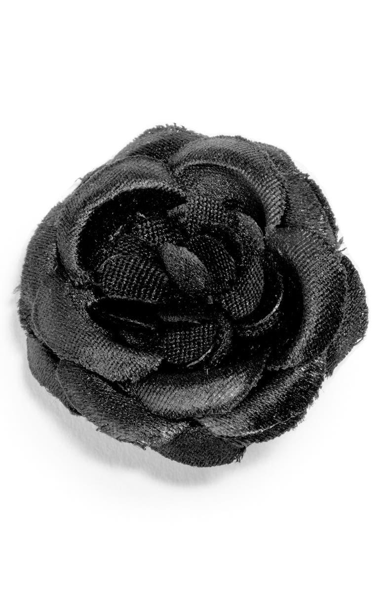 HOOK + ALBERT Small Lapel Flower, Main, color, 001