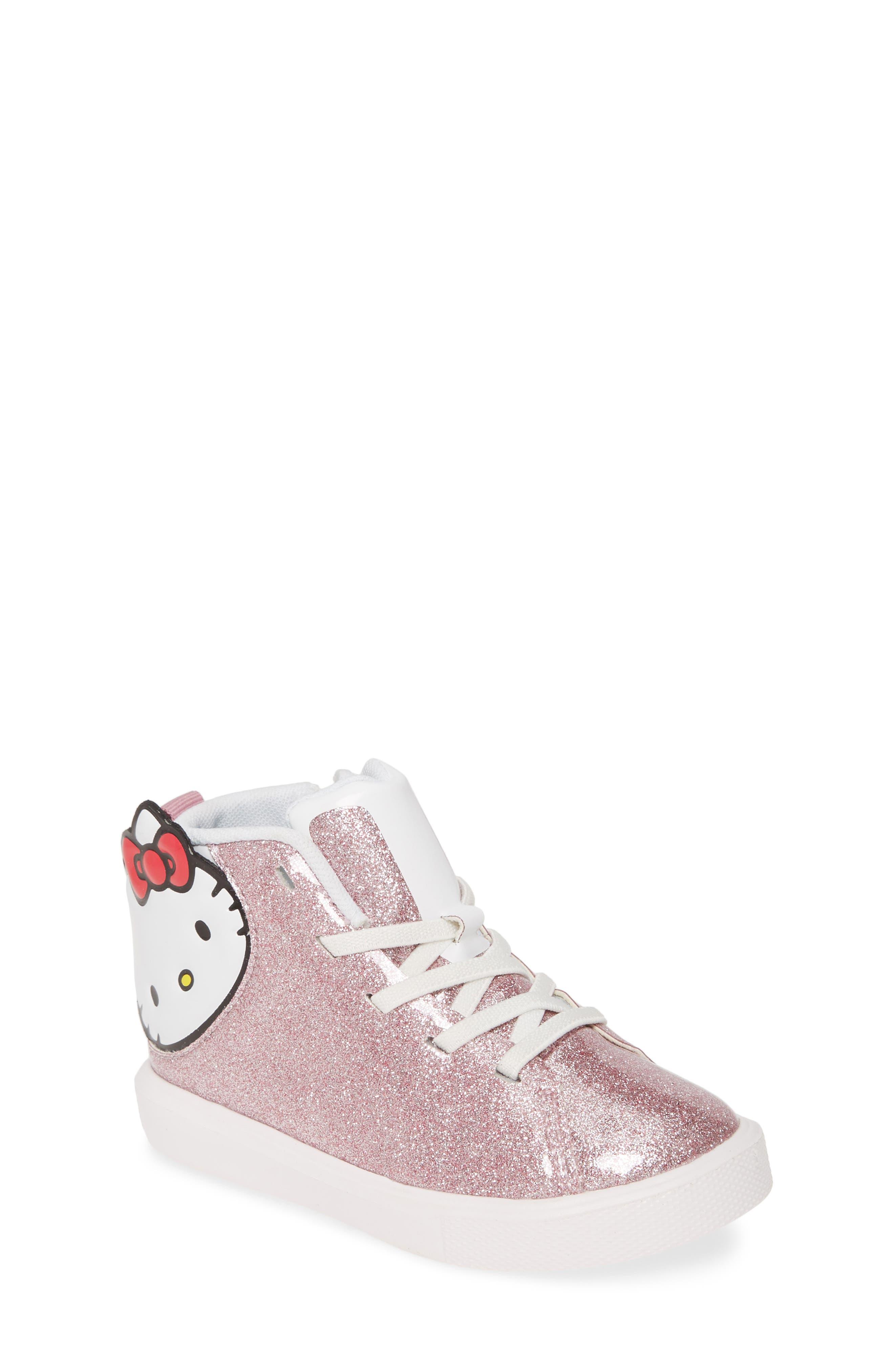 Toddler Girls Native Shoes Monaco Hello Kitty Glitter Sneaker Size 6 M  Red