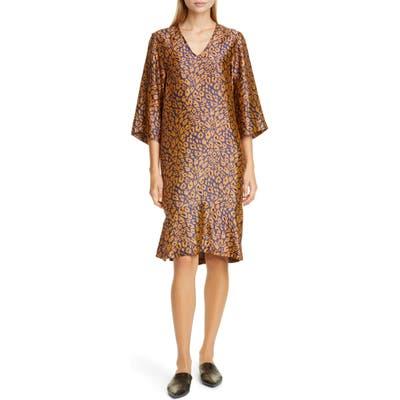 Zero + Maria Cornejo Lumi Cheetah Jacquard Shift Dress, Black