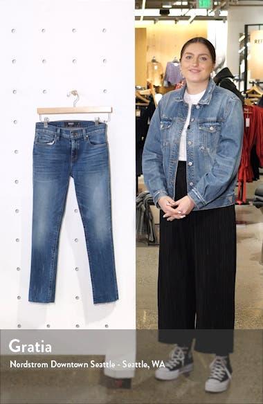 Nico Raw Hem Crop Skinny Jeans, sales video thumbnail
