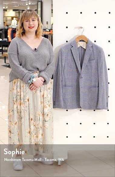 Extra Trim Fit Plaid Wool Blend Sport Coat, sales video thumbnail