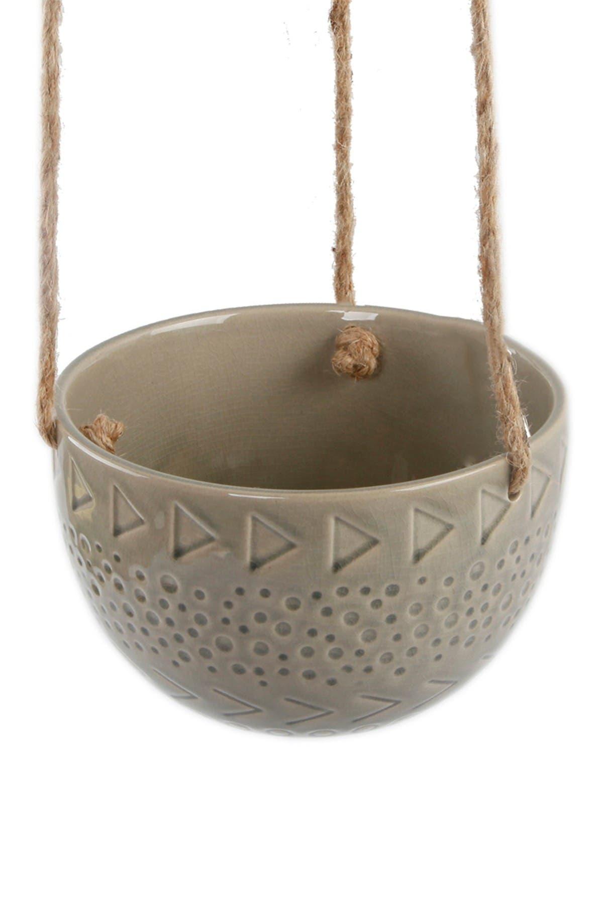 "Image of FLORA BUNDA 6.75"" Caveman Ceramic Hanging Planter"