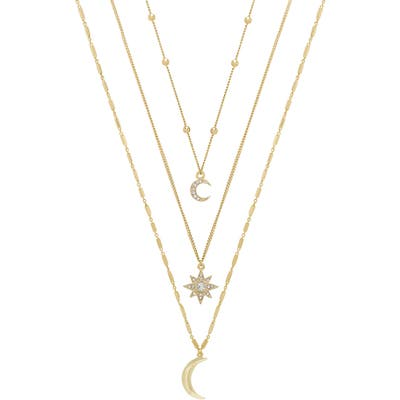 Ettika Set Of 3 Celestial Pendant Necklaces