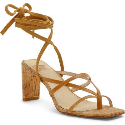 Louise Et Cie Lehana Wraparound Ankle Strap Sandal- Brown