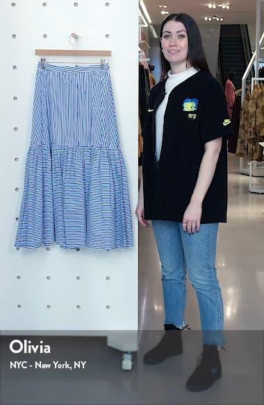 Orchid Stripe Skirt, sales video thumbnail