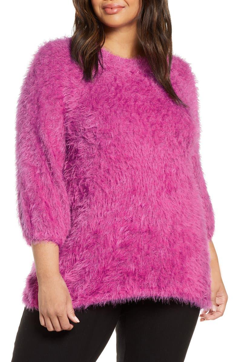 NIC+ZOE Cozy Up To Eyelash Sweater, Main, color, 655
