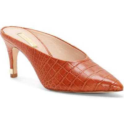Louise Et Cie Karas Pointy Toe Mule Pump- Brown