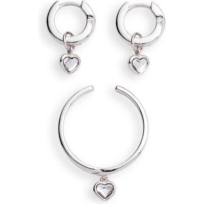 Olivia Burton Interlink Heart Earrings & Bracelet Set