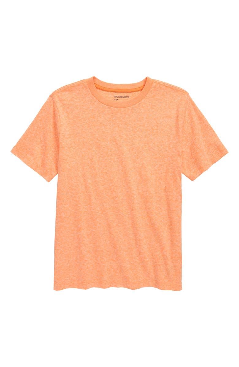 TUCKER + TATE Essential Heathered T-Shirt, Main, color, ORANGE PARADISE HEATHER