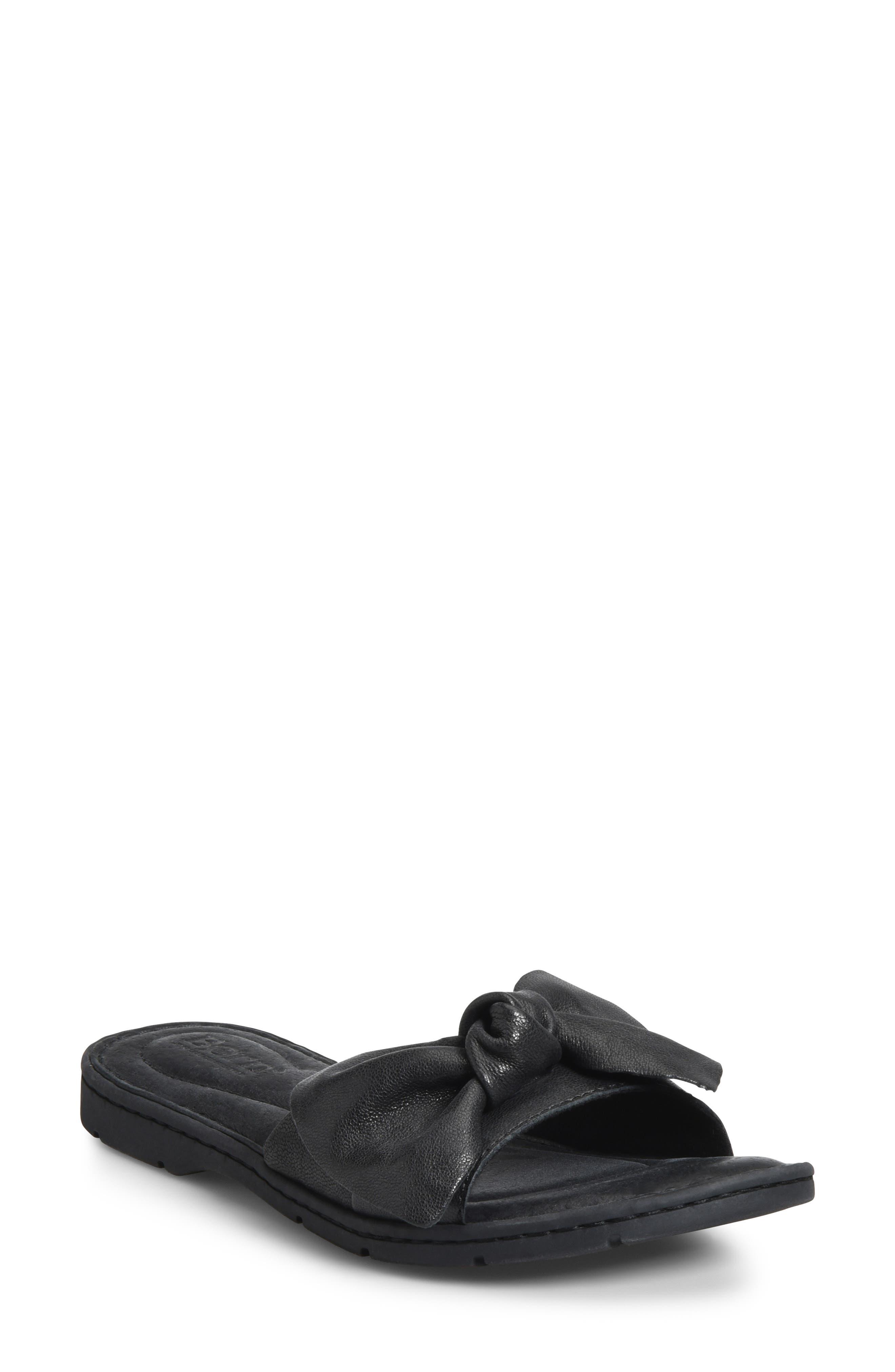 B?rn Teton Knotted Slide Sandal, Black