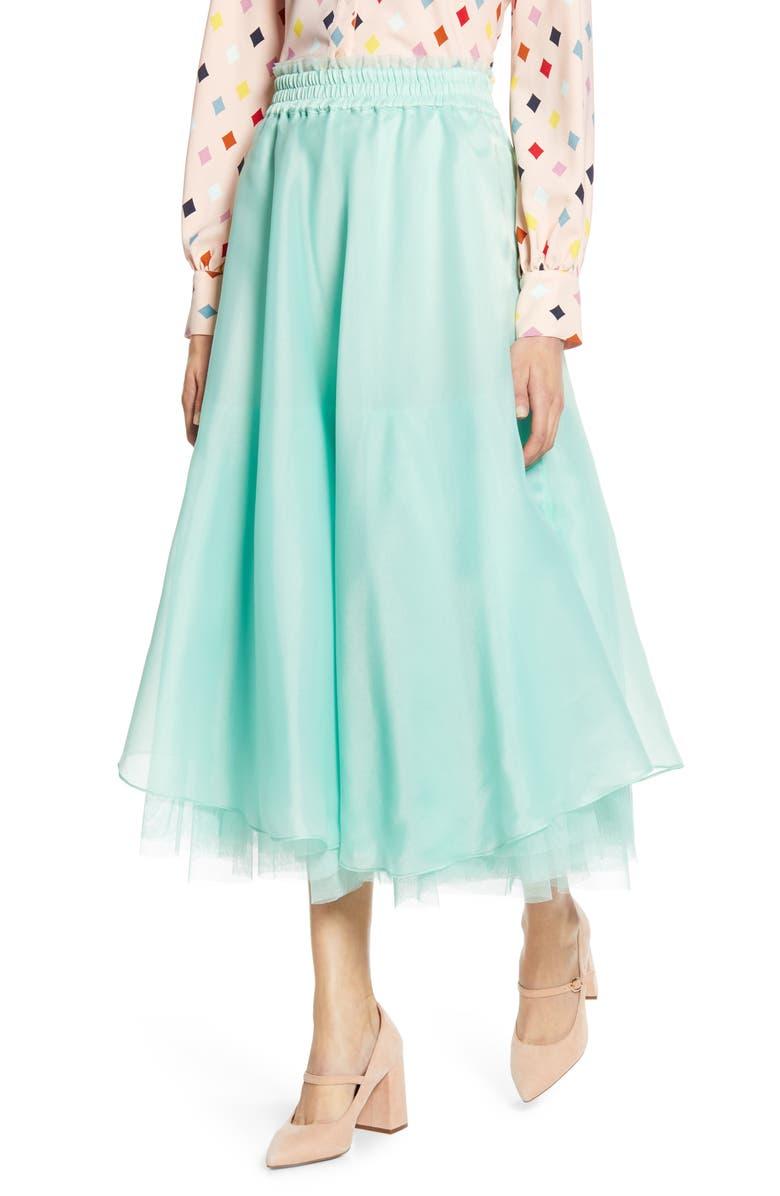 HALOGEN<SUP>®</SUP> x Atlantic-Pacific Full Organza Midi Skirt, Main, color, 330