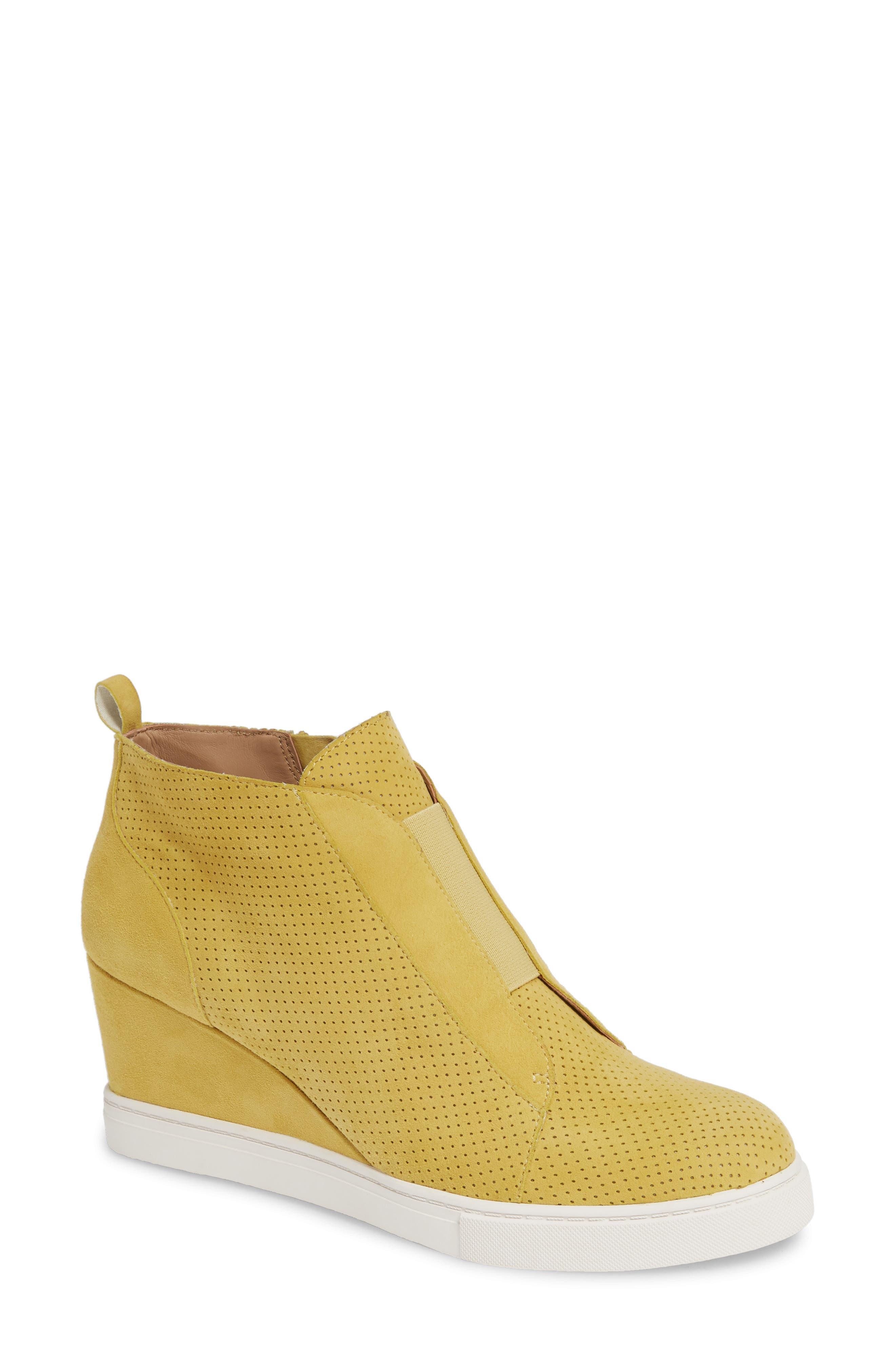 Linea Paolo Felicia Wedge Bootie- Yellow