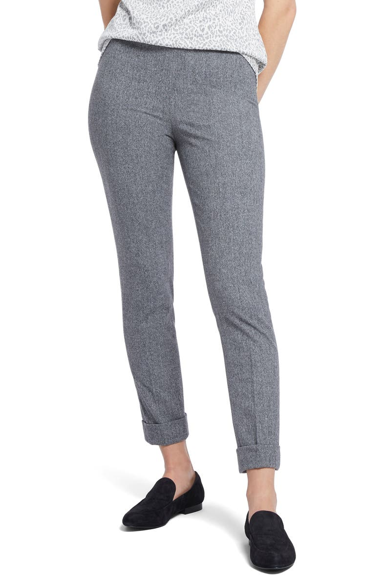 NIC+ZOE Forever Flannel Ankle Pants, Main, color, BLACK MIX