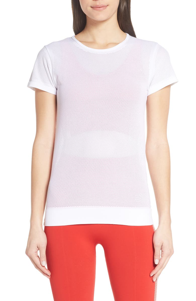 MONREAL LONDON Competition Perforated Tee, Main, color, WHITE