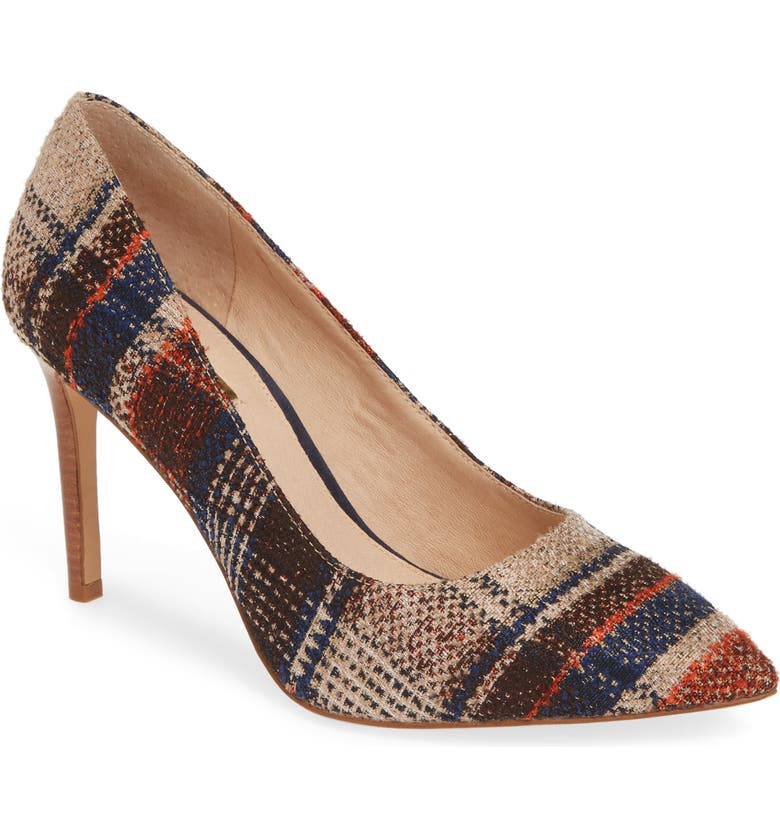 LOUISE ET CIE Hanabeth Pump, Main, color, ACADEMIC PLAID FABRIC