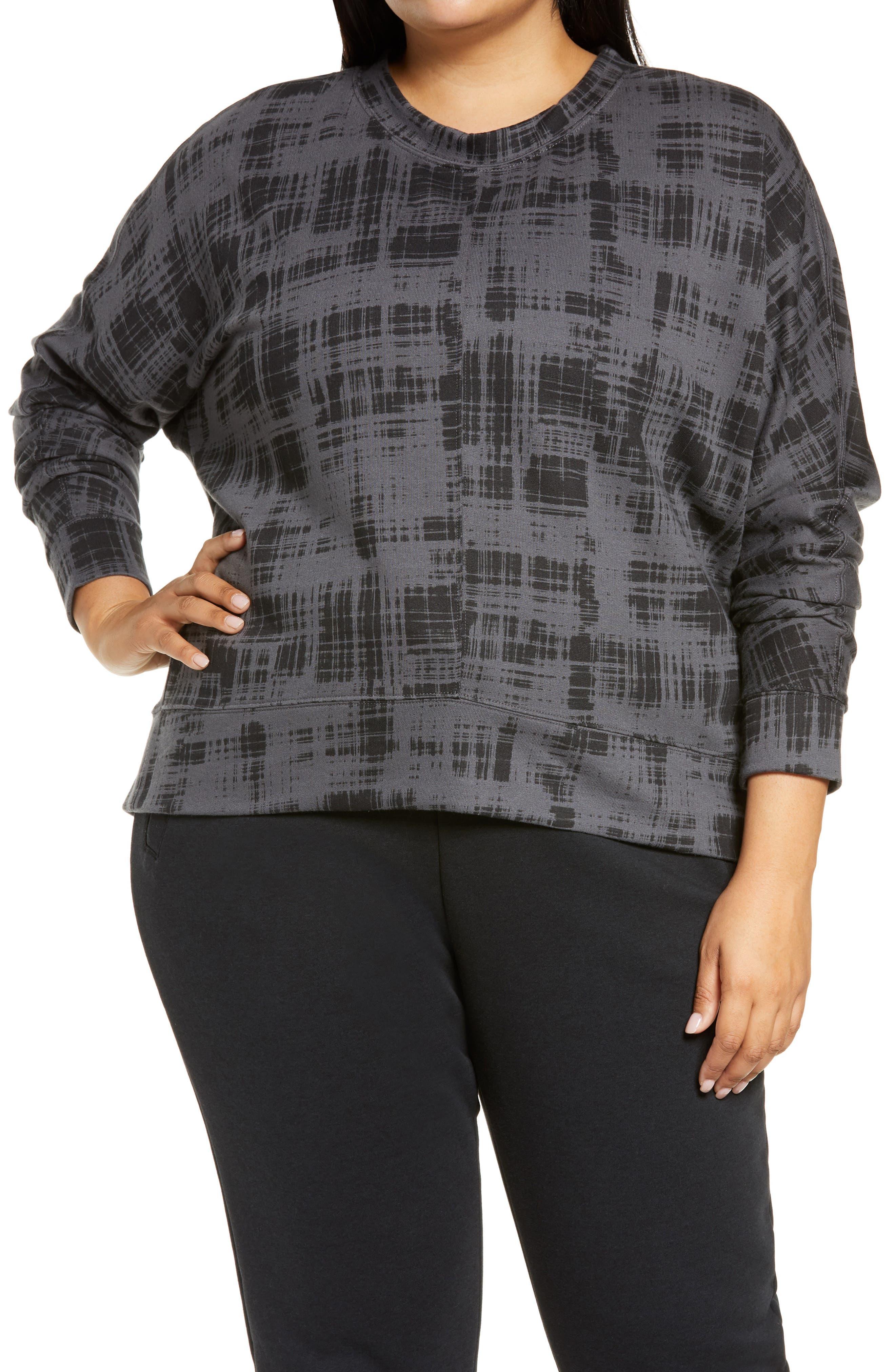 Zella Carey Crew Hi/Low Sweatshirt (Plus Size) | Nordstrom