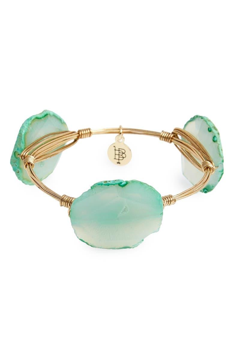 BOURBON AND BOWETIES Dyed Agate Bracelet, Main, color, 300