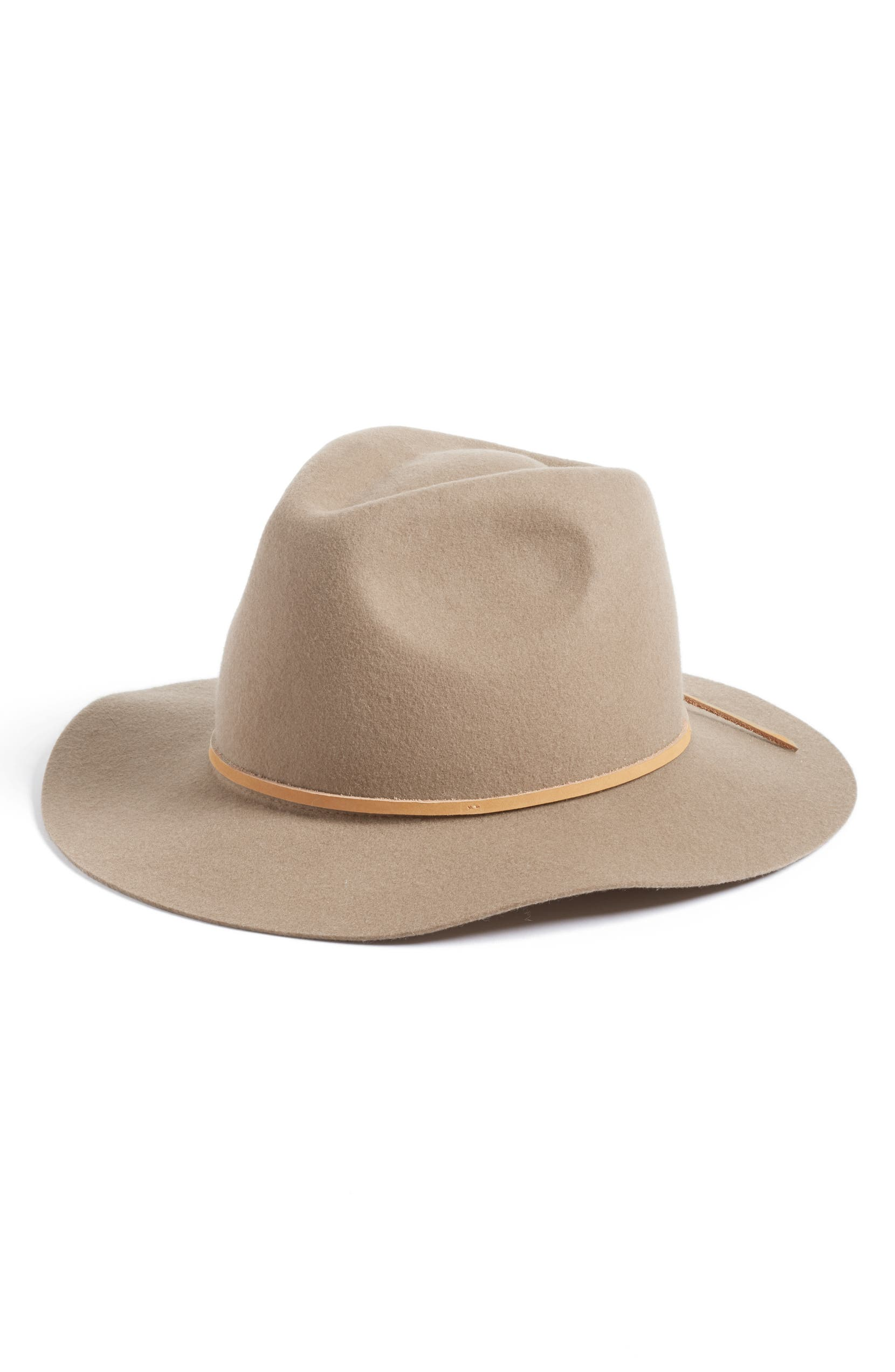'Wesley' Wool Fedora, Main, color, LIGHT TAN