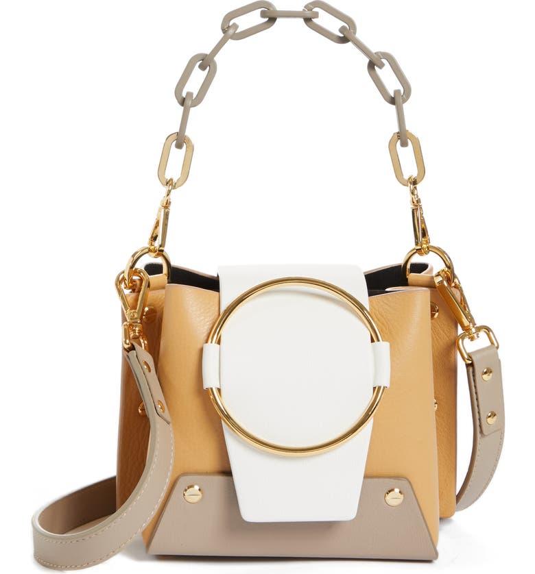 YUZEFI Delila Mini Bucket Bag, Main, color, SAVANNA/ KAKY