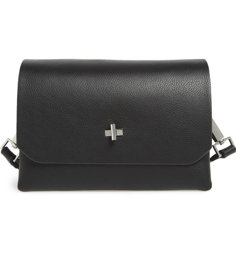 TOPSHOP Otley Faux Leather Crossbody Bag, Main, color, 001