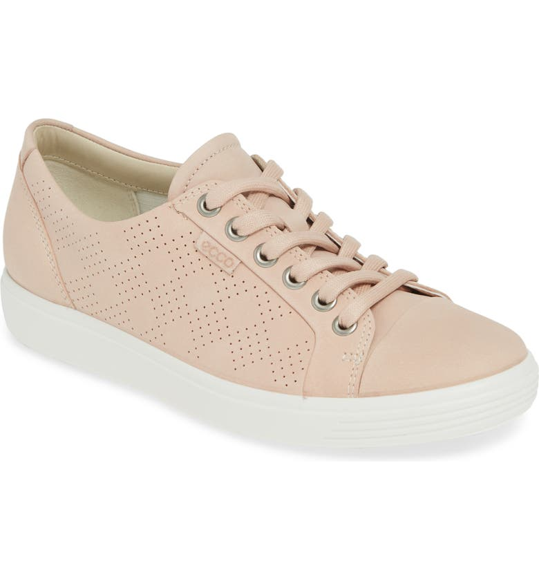 ECCO Soft 7 Sneaker, Main, color, ROSE DUST LEATHER