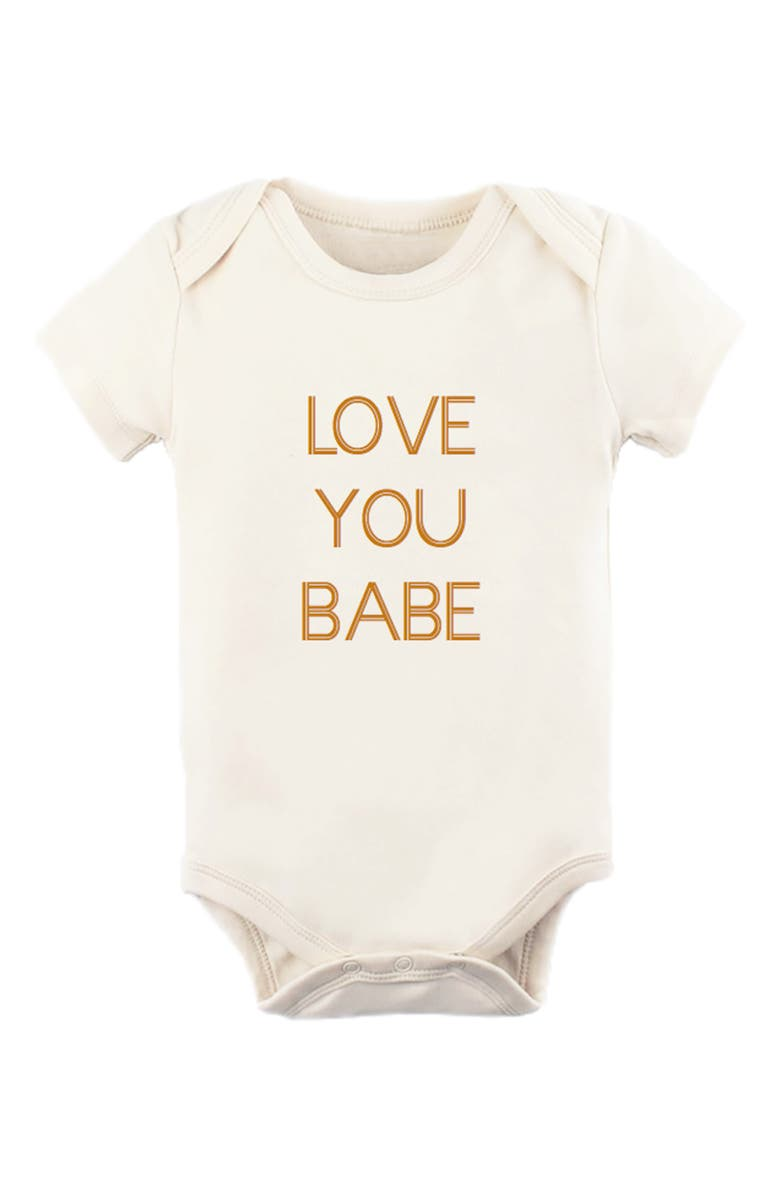 TENTH & PINE Love You Babe Organic Cotton Bodysuit, Main, color, NATURAL
