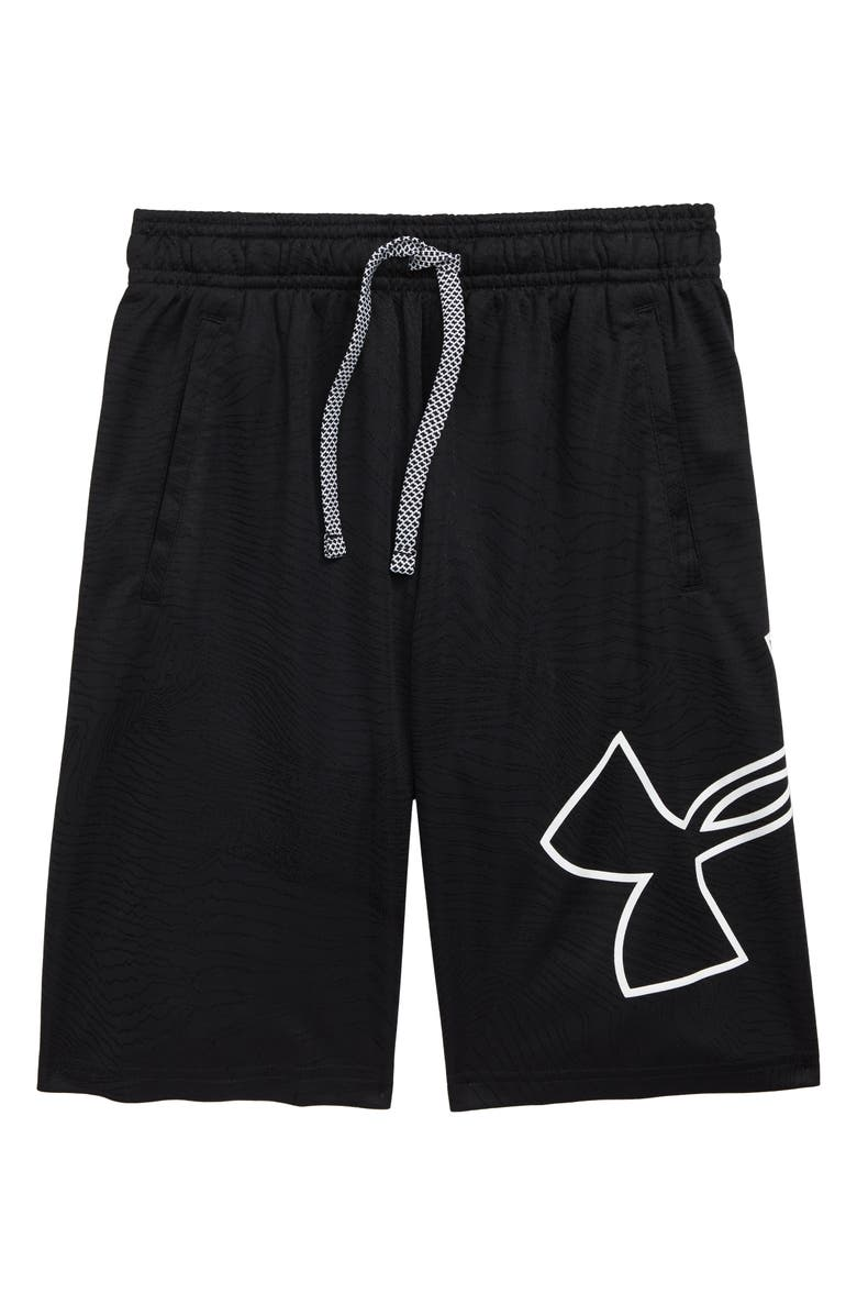 UNDER ARMOUR Renegade 2.0 Jacquard Shorts, Main, color, BLACK/ WHITE
