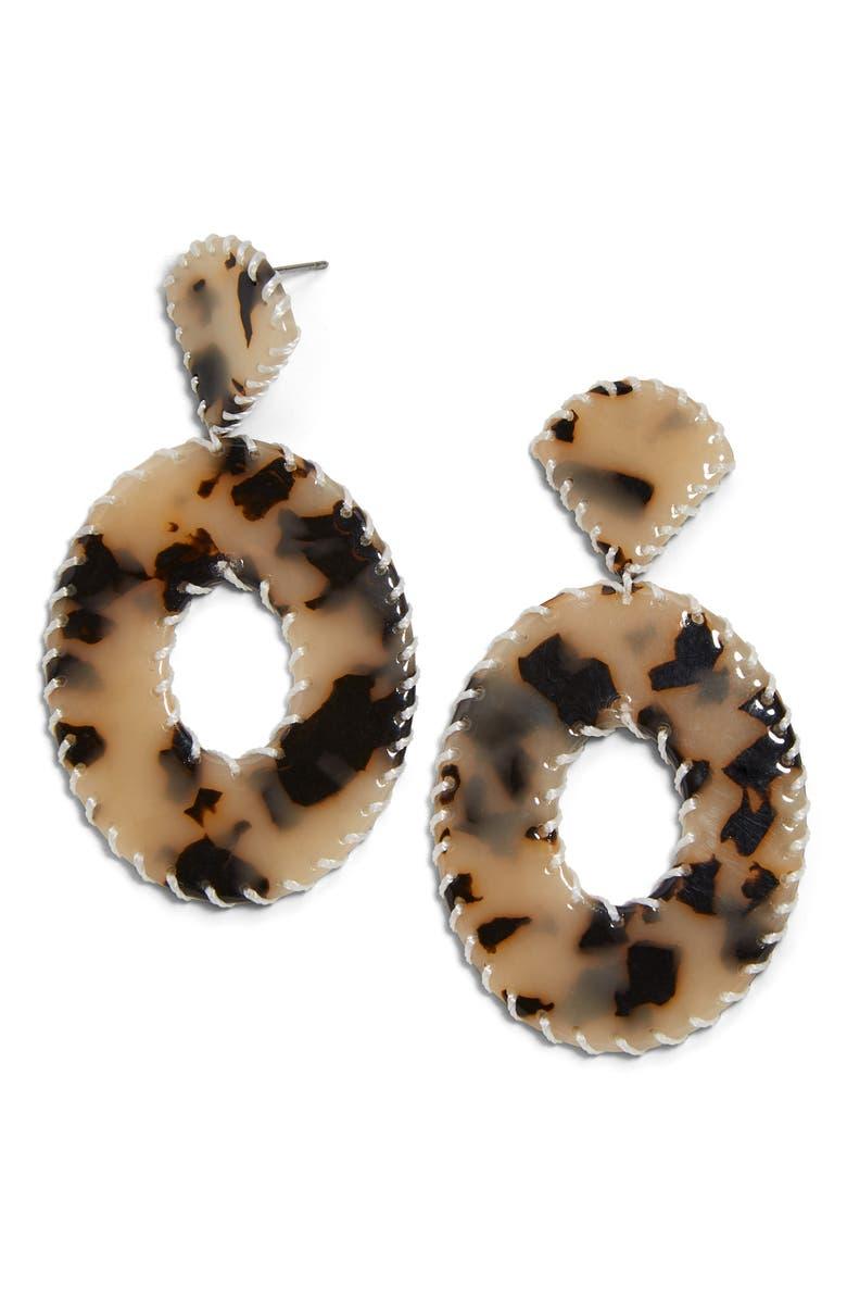BAUBLEBAR Pickett Drop Earrings, Main, color, BLONDE TORTOISE