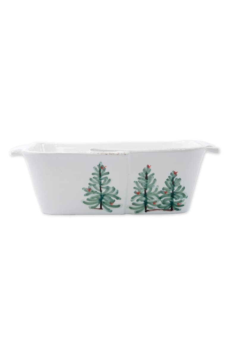 VIETRI Lastra Holiday Loaf Pan, Main, color, HAND PAINTED