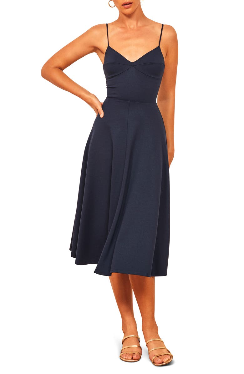 Jenni Spaghetti Strap Fit & Flare Dress by Reformation