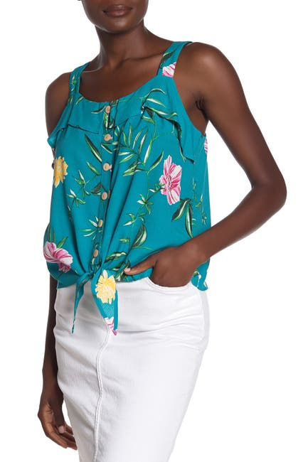 Image of Tart Jennifer Tropical Tie Hem Top