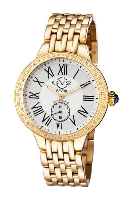 Image of Gevril Women's Astor Diamond Bracelet Watch, 40mm - 0.24 ctw