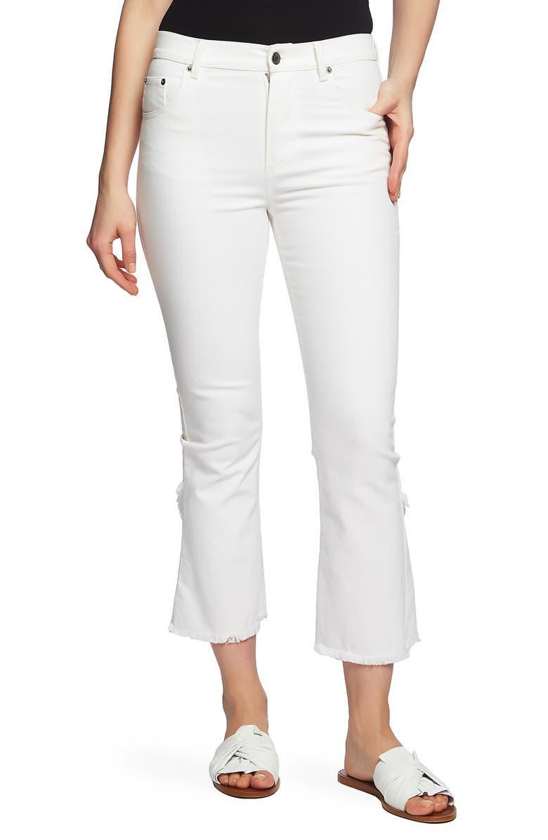 1.STATE Tulip Hem Stretch Twill Crop Skinny Jeans, Main, color, 145