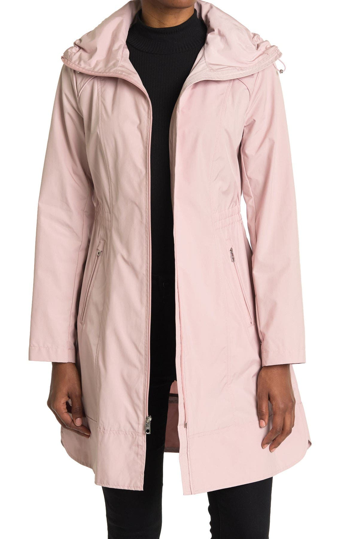 Image of Cole Haan Packable Hooded Rain Coat